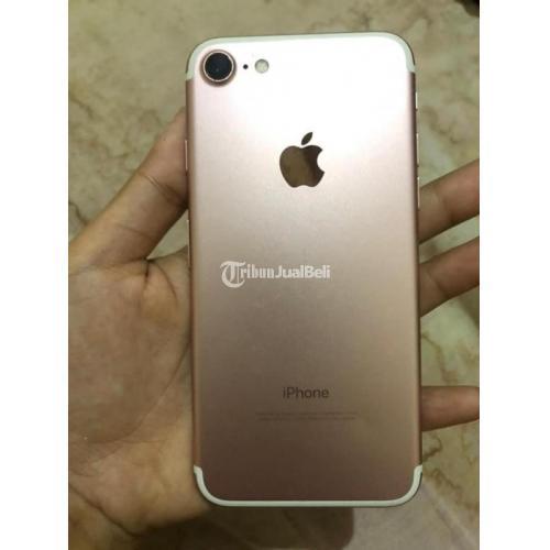HP iPhone 7 128GB Gold Fullset Bekas Tangan 1 Kondisi Normal Mulus - Denpasar