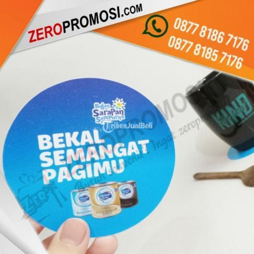 Sedia Souvenir Tatakan Gelas Custom Bahan Pvc Bulat Promosi - Tangerang