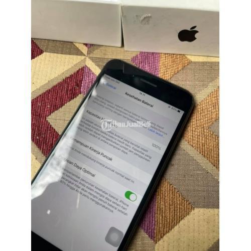 HP iPhone 7 Plus 128GB Black Bekas Fullset Fungsi Normal Garansi - Majalengka
