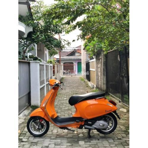 Motor Vespa Sprint 150 I-Get 2016 Bekas Mulus Surat Lengkap KM Rendah - Jakarta