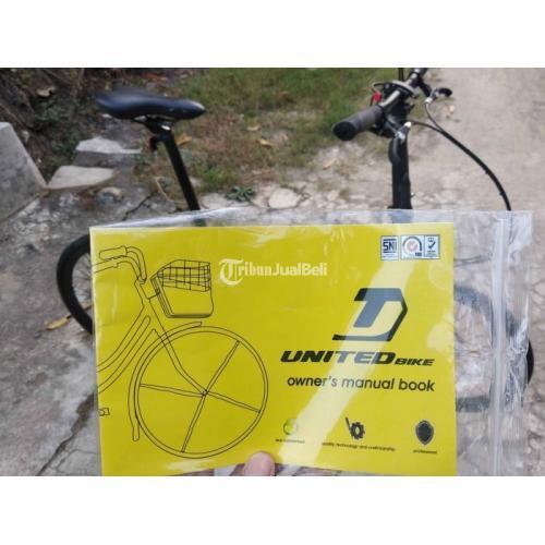 Sepeda Lipat United cora 9s 22inch Warna Hijau Bekas Like New Harga Nego - Jogja