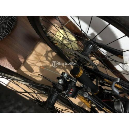 Sepeda Lipat  United Cora 9S Modif Bekas Normal Bonus Lampu LED - Jakarta Utara