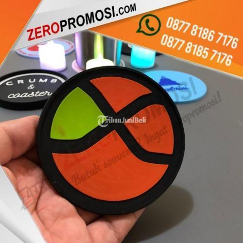 Souvenir Tatakan Gelas Bahan Karet Rubber Coaster Promosi - Tangerang