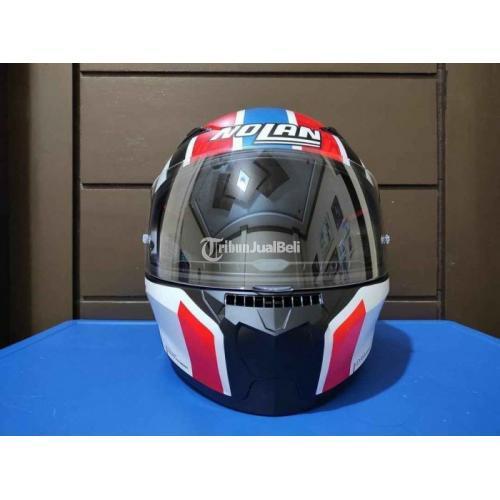 Helm Nolan Size XL Bekas Like New Lengkap Mulus Busa Tebal Bersih - Medan