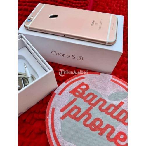 HP iPhone 6s 128GB Rosegold Bekas Fullset Kondisi Normal Garansi - Surabaya