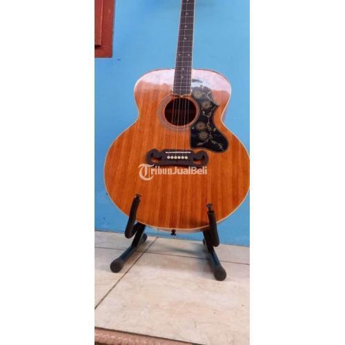 Gitar Akustik Gibson J200 Tanam Besi Liss Gading Tebal Bekas Normal - Bekasi