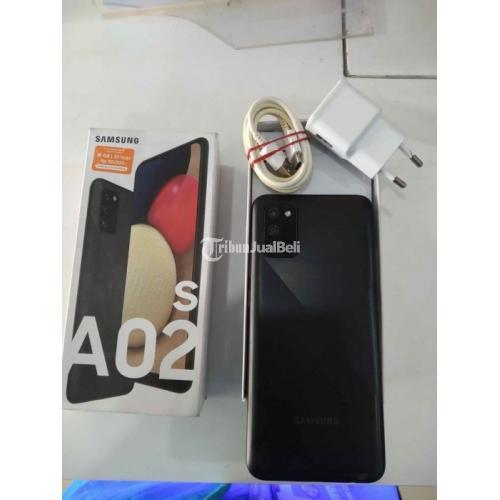 HP Samsung A02s 3/32GB Second Lengkap Mulus Garansi On Harga Nego - Deli Serdang