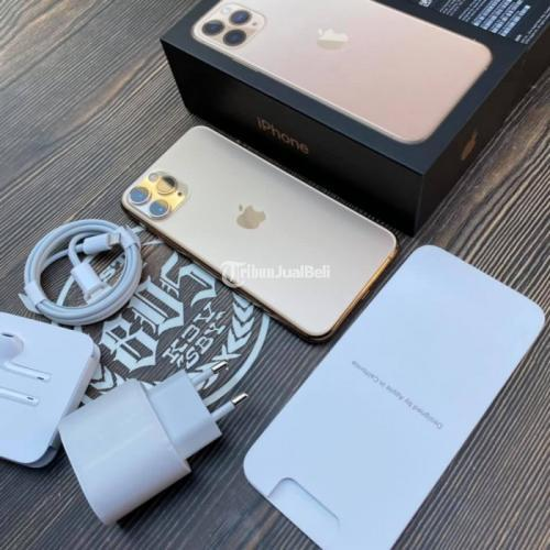 HP Apple iPhone 11 64GB Gold iBox Bekas Mulus Like New Fullset Nominus - Surabaya