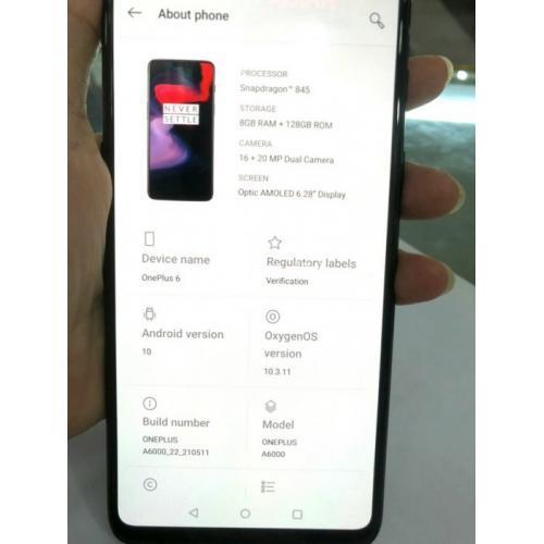 Hape Seken OnePlus 6 RAM 8GB ROM 128GB Mulus Fullset - Jakpus