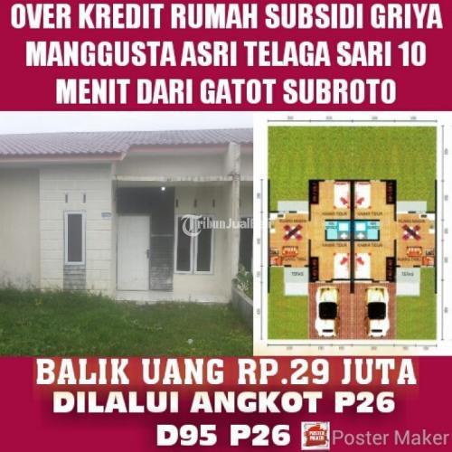 Dijual Rumah Subsidi di daerah telaga sari suka raya 10 menit ke gatot subroto 15 menit ke medan sunggal dan 15 menit ke gerbang tol semayang - Medan