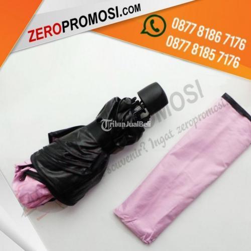 Produksi Souvenir Payung Bunglon Lipat 3 Dimensi Payung Dengan Cetak Logo - Tangerang