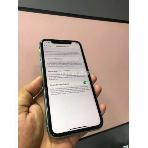 HP Apple iPhone 11 128 GB Dual SIM Fullset Original Resmi Bekas Nominus - Solo