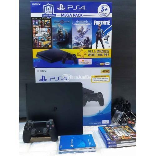 Konsol Game Sony PS4 Slim Megapack2 HDD 1TB Fullset Second Like New - Depok