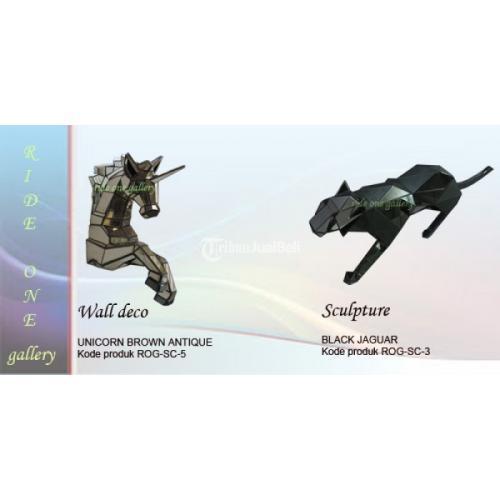 Wall deco dan patung  kaca 3 dimensi Desain Animal Harga Murah - Bantul