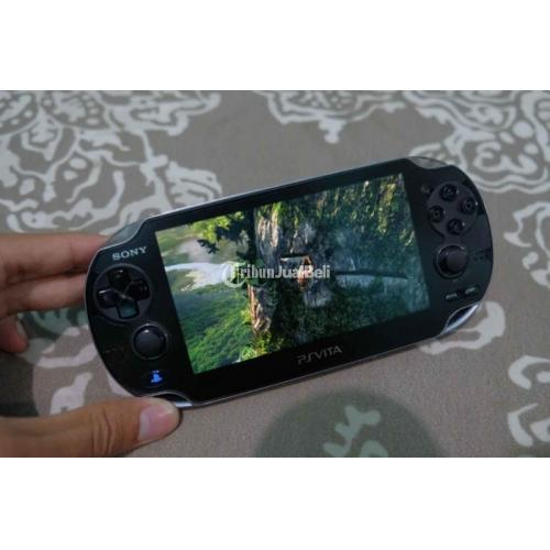 Konsol Game Sony PS Vita Fat 16GB Henkaki Permanent Bekas Fullset Mulus - Surabaya