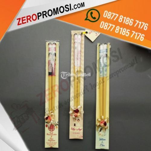 Souvenir Wood Chopstick Sumpit Kayu Custom Gambar Murah - Tangerang