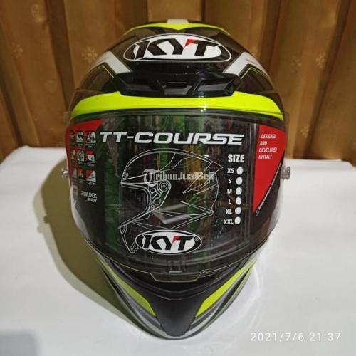 Helm KYT TT COURSE GP yellow Size M Bekas Bagus Lengkap - Jogja