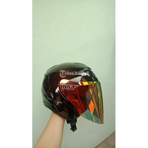 Helm Kyt Kyoto Sz XL fit L Visor Iridium Venom Red Gold Clear Bekas Ori - Depok