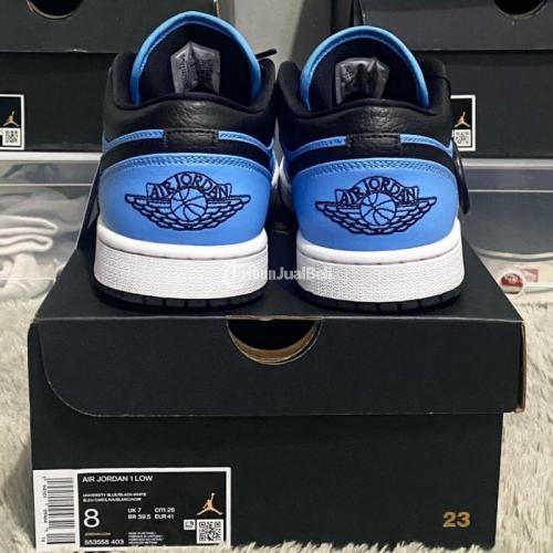 Sneakers Nike Jordan 1 Low University Blue Size US 8 / EU 41 VVNDS Nominus - Jakarta