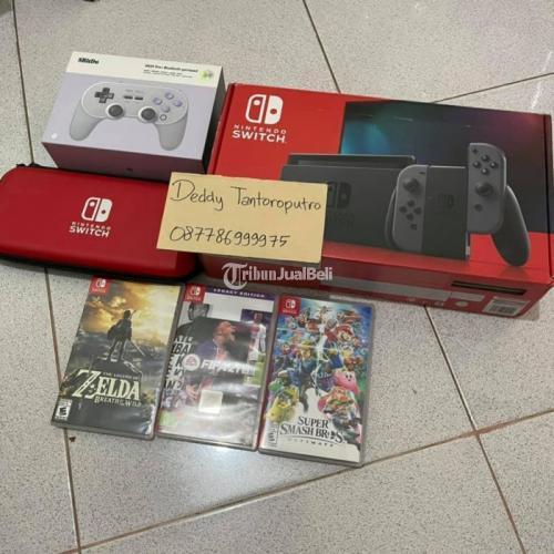Konsol Game Nintendo Switch V2 Grey Super Mulus Bekas Normal - Klaten