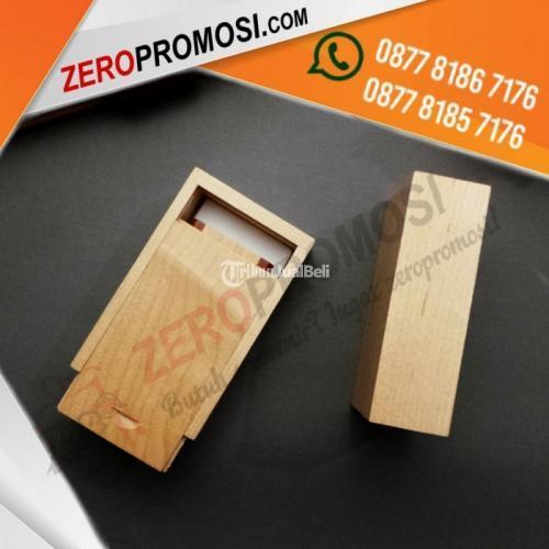 Sedia Packaging Sliding Box Kayu Untuk Kemasan Flashdisk Bisa Cetak Logo Murah - Tangerang