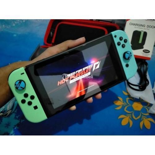 Nintendo Switch Animal Crossing Edition Like New Bekas Normal Fullset - Sidoarjo