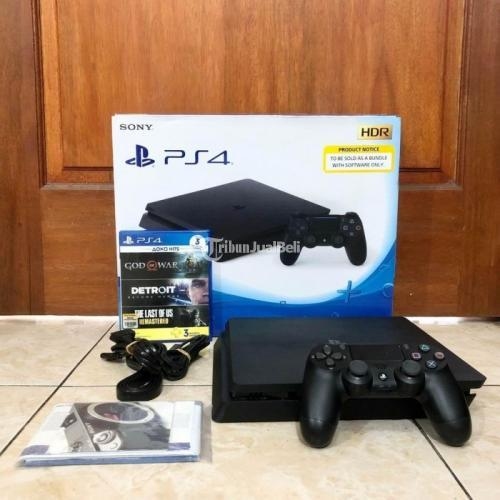 Konsol Game Sony PS4 Slim 1 TB CUH 2218B Bekas Like New Normal Segel Void - Tangerang