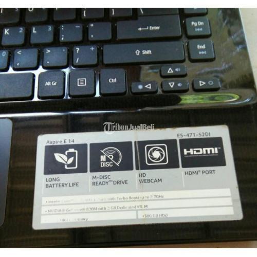 Laptop Acer Aspire E5-471 Ram 4GB Procecor Intel core i3-4005 U Bekas Normal - Semarang