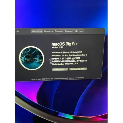 Laptop Apple Macbook Air 2018 128GB Silver Bekas Like New Harga Nego - Tangerang