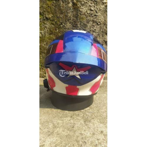 Helm TT-Course Repaint Captain America Visor KF Bekas Fullset Harga Nego - Depok
