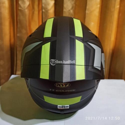 Helm KYT TT Course Electron Yellow Size L Bekas Bagus Lengkap Dus - Jogja