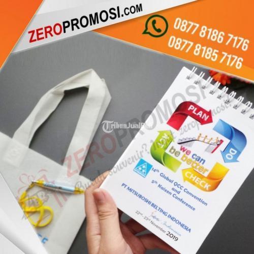 Sedia Paket Souvenir Seminar kit Eco Simple 2 Custom Cetak Logo - Tangerang