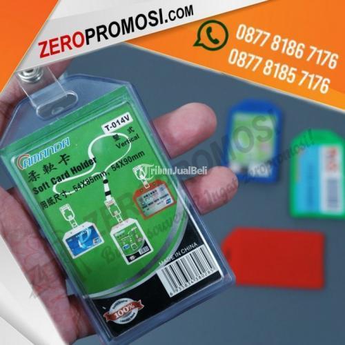 Casing Id Card Murah Card Holder Karet 1 Kartu Baru Bahan Karet - Tangerang