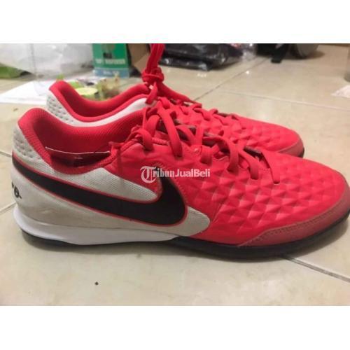 Sepatu Futsal Second NIKE Tiempo Legend X8 Club IC Laser Crimson - Boyolali