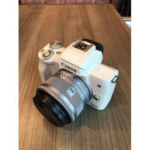 Kamera Canon EOS M50 Mark II Kit 15-45 IS STM Bekas Normal Bebas Jamur - Tangerang