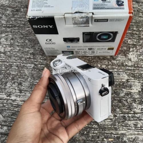 Kamera Mirrorless Sony A6000 Fullset Box Bekas Mulus Normal SC Rendah - Boyolali
