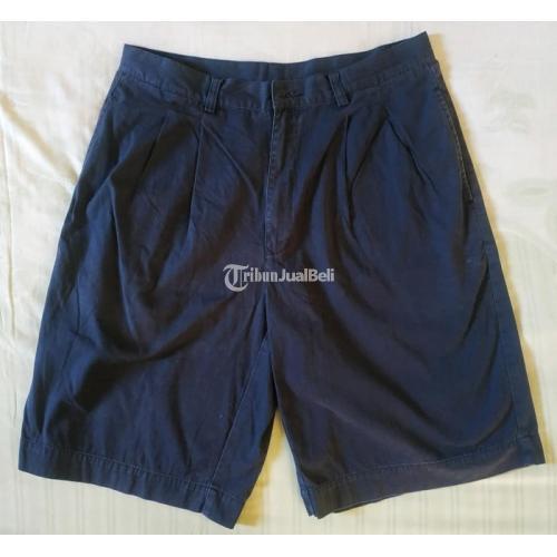 Celana Pendek Pria Giordano Secon Original Size 34/L-XL Hitam - Surabaya