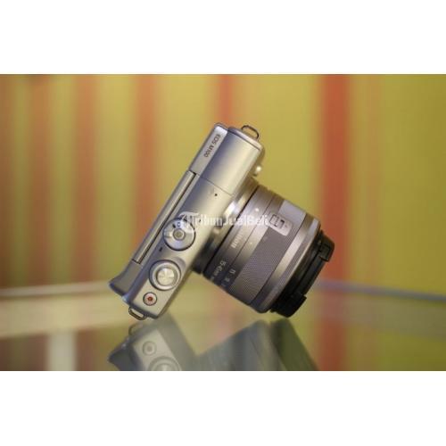 Kamera Canon EOS M100 Lensa Kit Bebas Jamur Bekas Fullset Garansi - Solo