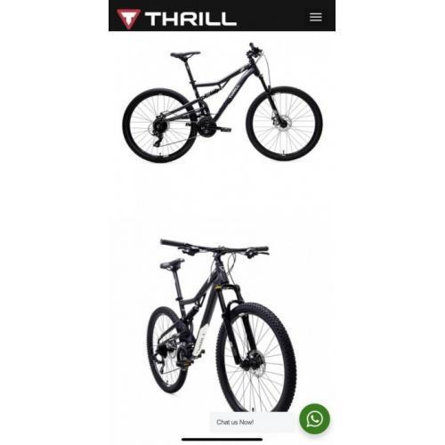 """Sepeda Thrill Oust 3.0 27.5"""" T120 2021 Bekas Normal Garasni 5 Tahun - Karawang"""