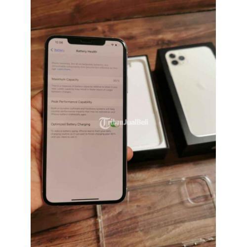 HP Apple iPhone 11 Pro Max 64GB Silver Bekas Garansi iBox On Fullset Ori - Jakarta