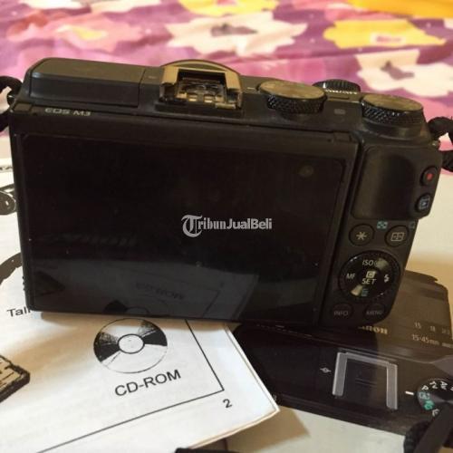 Kamera Mirrorless Canon M3 Mulus Fullset Bekas Like New Normal - Semarang