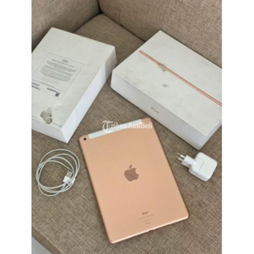 iPad Gen 6 128gb Wifi + Cell Gold/Pink Garansi iBox Bekas Fullset Original - Jogja