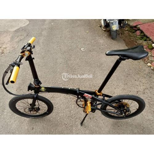 Sepeda Lipat ECOSMO 10 Limited Edition 10 Speed Bekas Normal Harga Nego - Makassar