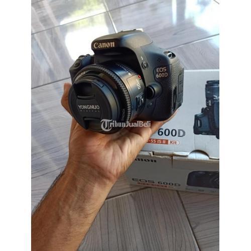 Kamera Canon EOS 600D Lensa Fix Fullset Bekas Kondisi Normal - Lombok Timur