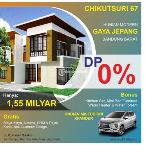 Dijual Rumah Baru Type Chikutsuri 67 Posisi Hook Luas 129 m2 One Get System - Bandung Barat