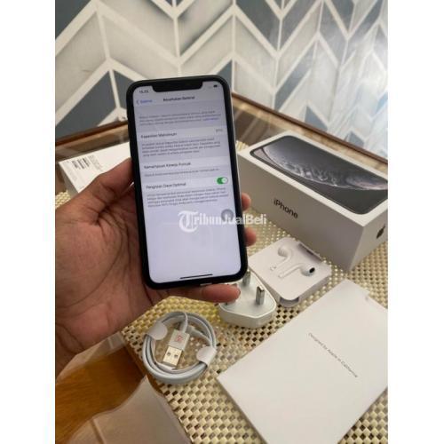HP Apple iPhone XR 128GB Black Super Mulus Bekas Normal All Operator - Jogja