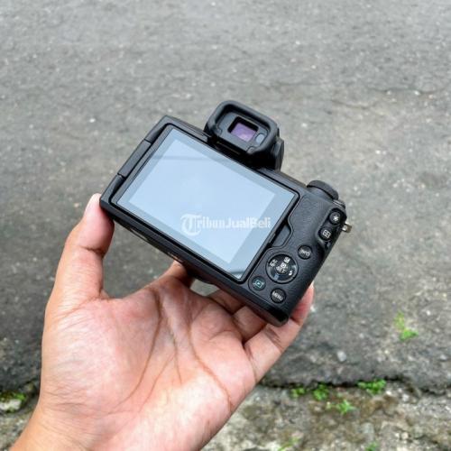 Kamera Mirrorless Canon Eos M50 Kit 15-45 Stm Fullset Lengkap Bekas - Sukoharjo