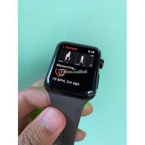 Apple Watch Series 3 - 42 mm (Stainless Stell) Bekas Baik Bonus Strap - Ngawi
