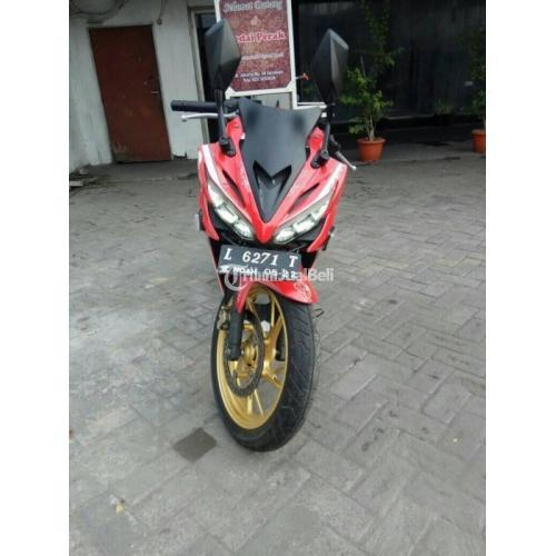 Motor Honda CBR Facelift 2017 Merah Bekas Pajak Panjang Mesin Normal - Surabaya