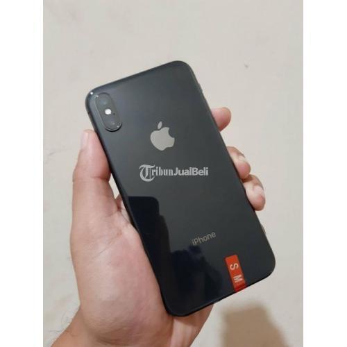 HP iPhone X 64GB Black Baterai 93% Bekas Fullset Mulus No Minus - Semarang